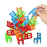 Jenilily Chairs Stacking Balancing Game - Party Favor Stacking Toys - Pile-Up Suspend Family Board Games for Kids (18 Chair Toys Set)