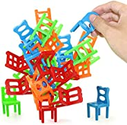 Jenilily Chairs Stacking Tower Balancing Game - Party Favor Stacking Toys - Pile-Up Suspend Family Board Games