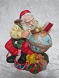 Ceramic Santa Candle Holder Handmade Original Christmas Decoration
