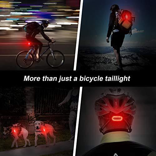 WOTEK Feu Arrière Vélo LED, Eclairage Arrière Vélo, Lumière Vélo Arrière 6 Modes d\'Eclairage, USB Rechargeable 400mA Pour le Cyclisme-Impermeable et Antichoc