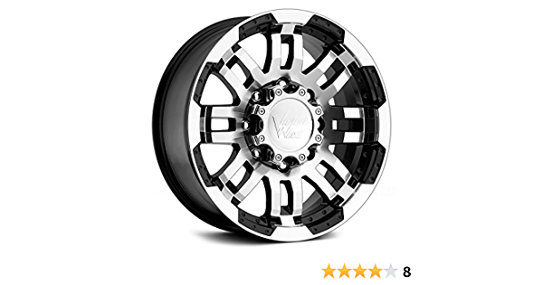 17x8.5//5x127mm Vision Warrior 375 Gloss Black Machined Face Wheel