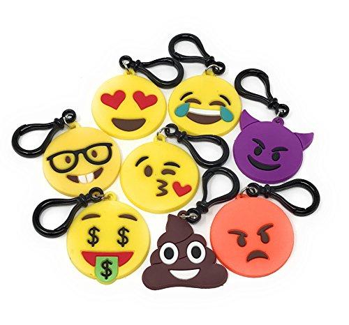 Sea View Treasures 24 Bulk Silicon Emoji Party Favor Key Chain / Bag Tag for $<!--$12.99-->