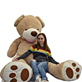 WOWMAX 11 Foot Light Brown Huge Teddy Bear Toys Giant Plush Stuffed Animal Teddy Bear Toys 133""