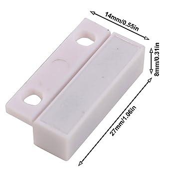 UHPPOTE Cable de Tipo de NC para Puerta de Alarma Magnética Detector Sensor de Contacto de Ventana Interruptor de Láminas(Paquete de 5): Amazon.es: ...