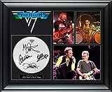 Van Halen Autographed Drumhead Framed Photo Display