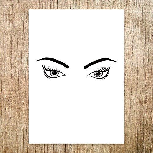 Fierce Eye Art, Size 5x7, 8x10, 11x14, A5, - Stare Junior Game