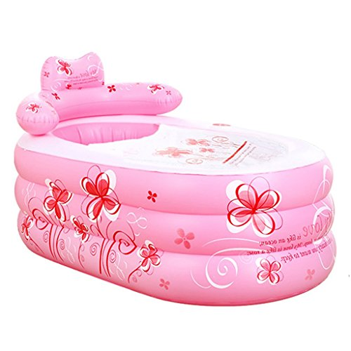 Bathtubs Freestanding Inflatable Thickened Adult Bath Fashionable Folding Bath tub Children's Collapsible Bubble Bath tub Relieve Fatigue by Bathtubs (Image #5)