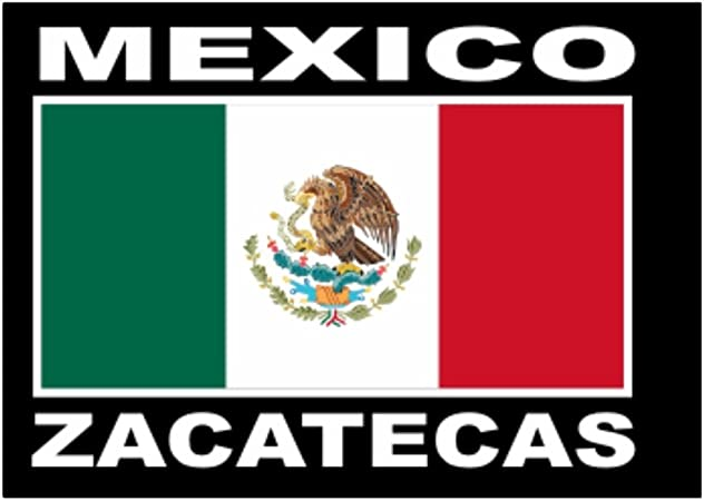 Teeburon Zacatecas Big Flag Pack de Pegatinas x4: Amazon.es: Hogar