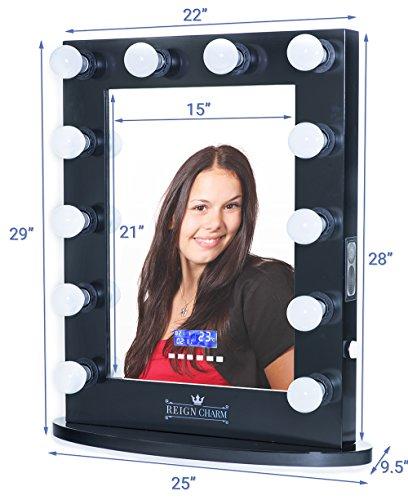 reigncharm hollywood vanity mirror bluetooth audio enabled led light bulbs. Black Bedroom Furniture Sets. Home Design Ideas