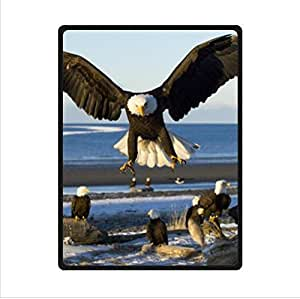 The Bald Eagles Bask In The Sun,The Bald Eagle Custom Fleece Blanket 58 x 80 (Large)