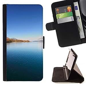 For Sony Xperia M4 Aqua Case , Naturaleza Hermosa Forrest Verde 91- la tarjeta de Crédito Slots PU Funda de cuero Monedero caso cubierta de piel