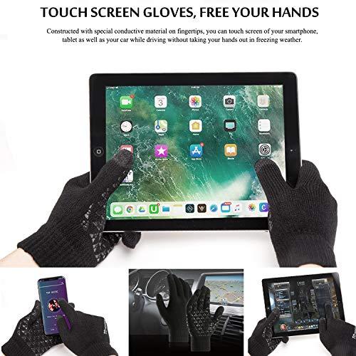 19917f6113bd8 ... TRENDOUX Winter Gloves, Knit Touch Screen Glove Men Women Texting  Smartphone Driving - Anti- ...