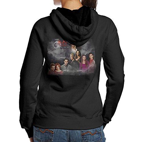 Buffy The Vampire Slayer Women's Fleece Long Sleeve Hoodie Black L