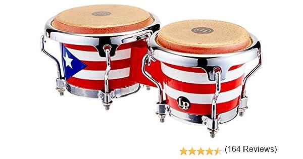LP LP817960 Bongo Mini con dise/ño de Bandera de Puerto Rico
