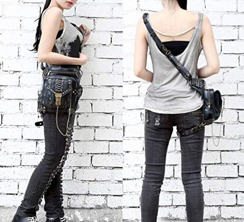 CFB002 Cestlafit Nuevas Mujeres Hombres Piel Steampunk Punk Bolso De Hombro Vintage Paquetes De Cintura Pierna Bolsas