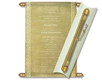 Amazon Com Scroll Invitations Scroll Wedding Invitations Wedding