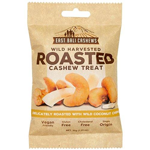 East Bali Cashews, Coconut Cashew Nut Snack Packs (10 Count) - Gluten Free, Non-GMO, Vegan Friendly
