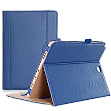 ProCase Galaxy Tab A 9.7 Case, Standing Cover Folio Case for 2015 Galaxy Tab A Tablet (9.7 Inch, SM-T550 P550), with Multiple Viewing Angles, Document Card Pocket - Navy