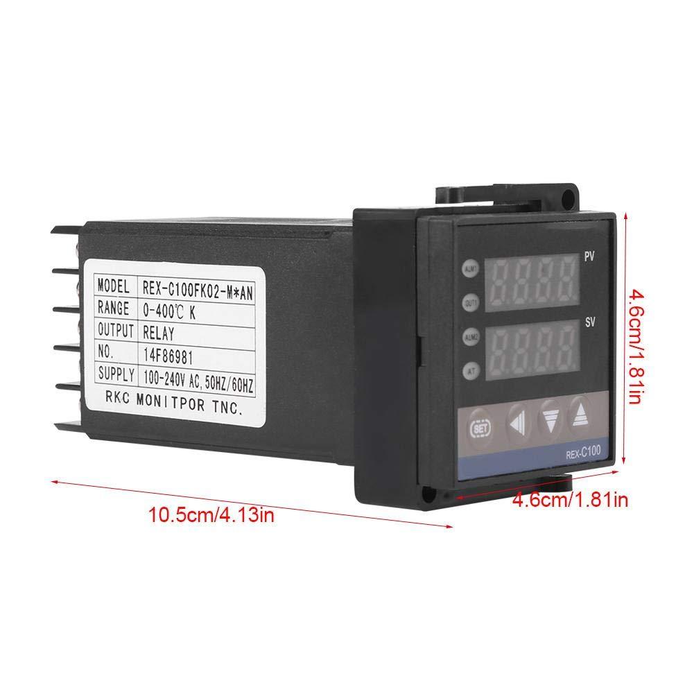 termopar digital PID termostato REX-C100 Controlador de temperatura