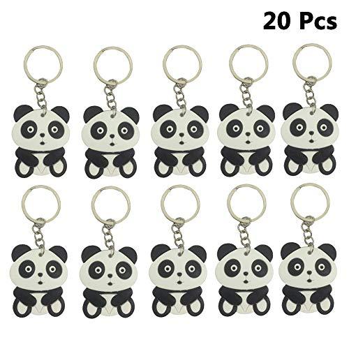 Finduat 20 Pcs Cute Cartoon Panda China National Treasure Panda Themed Keychain Pendant for Kid Toy Ornament Souvenirs Gift]()