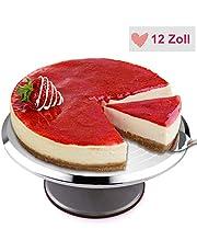 Mbuynow obrotowa patera na tort, aluminiowa, obrotowa podstawka na tort, Ø 30 cm, do dekorowania ciast, narzędzia