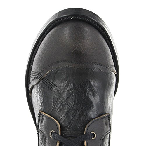 Sendra Boots 7825 Schwarz-Braun Herren & Damen Schnürstiefelette Negro Tree Negro