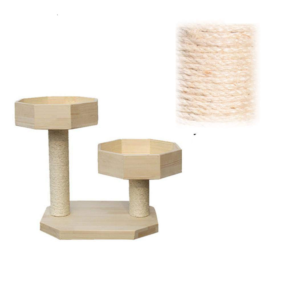 Deluxe Multi Cat Tower Cat Play Towers Wood Environmental Predection cat Tree Small cat nest sisal Cat Scratch cat Furniture 40  50  54cm