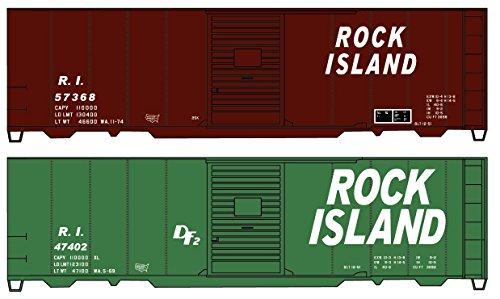 Rock Island Boxcar - Accurail ACU1229 HO-Scale KIT 40' Wood Box Cars (2-Pack): RI Rock Island