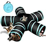 Cat Tunnel Toy 5 Way, Collapsible Pet Play Tunnel Tube with Storage Bag