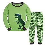 Tkala Boys Pajamas Children Clothes Set Dinosaur 100% Cotton Little Kids Pjs Sleepwear,6,1-dinosaur
