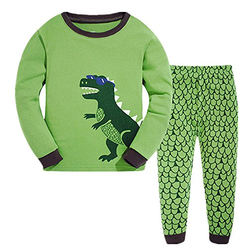 Tkala Boys Pajamas Children Clothes Set Dinosaur 100% Cotton Little Kids Pjs (Cotton Kids Pajamas)