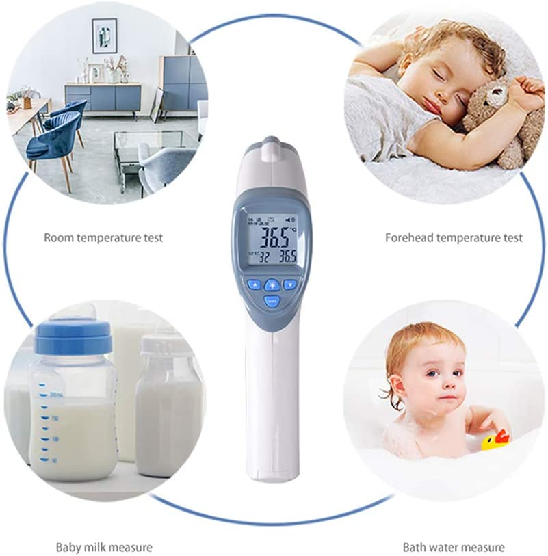 Forehead Thermometer Baby Adult Digital Thermometer for Precise Fever Tracking at Home White