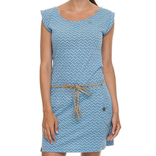Ragwear Blue Zag Zig W Vestido Tag rqa4wxfr