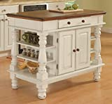 Kyпить Home Styles 5094-94 Americana Kitchen Island, Antique White Finish на Amazon.com