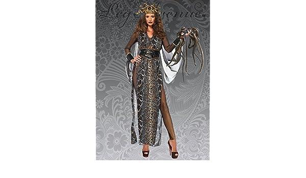 Disfraz de Diosa Medusa Deluxe para Mujer S (UK 8-10): Amazon.es ...