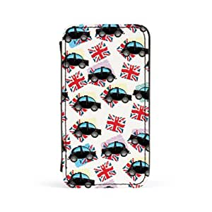 Black Cabs Premium Faux PU Leather Case, Protective Hard Cover Flip Case for Apple? iPhone 4 / 4s by Nick Greenaway + FREE Crystal Clear Screen Protector