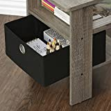FURINNO Andrey End Table Nightstand with Bin