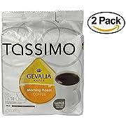 Tassimo Gevalia Kaffe Morning Roast Coffee, 4.3 oz(Case of 2)