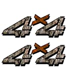 camouflage truck decals - 4x4 sticker set for Chevy, GMC, Sierra, Silverado Truck timber orange camouflage hunting camo decal
