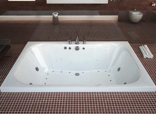 (Atlantis Whirlpools 4060nar Neptune Rectangular Air Jetted Bathtub, 40 X 60, Center Drain, White)