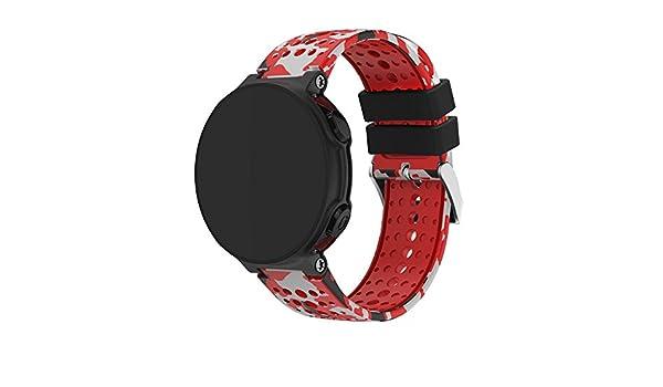 LANSKIRT Reemplazo Silicagel Correa de Banda Suave Recambio Brazalete Extensibles Pulsera para para Garmin Forerunner 235 GPS Reloj: Amazon.es: Ropa y ...