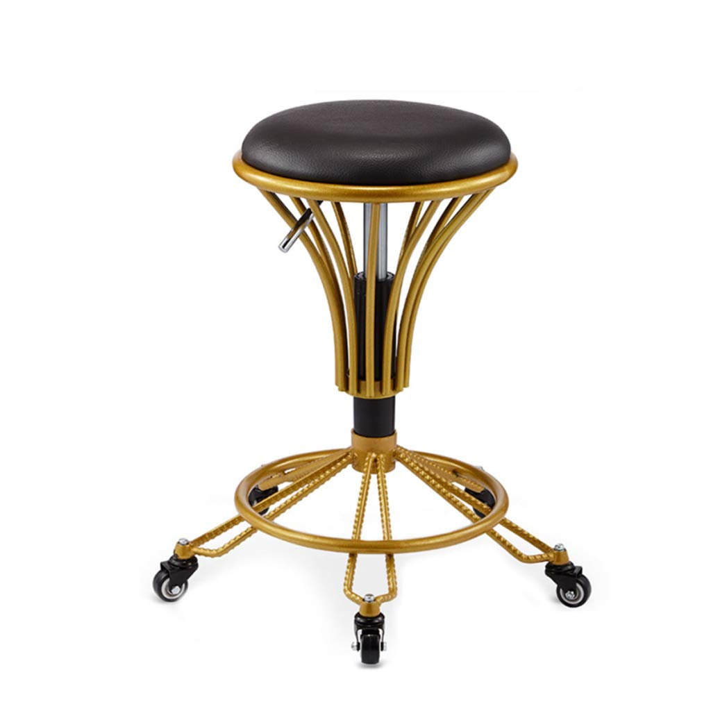 Black BYCDD Barstools Counter Height Swivel, Bar Stools with Adjustable Modern Pub Kitchen Bar Chair,Black