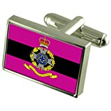 Army Chaplains Military England Sterling Silver Flag Cufflinks Engraved Box