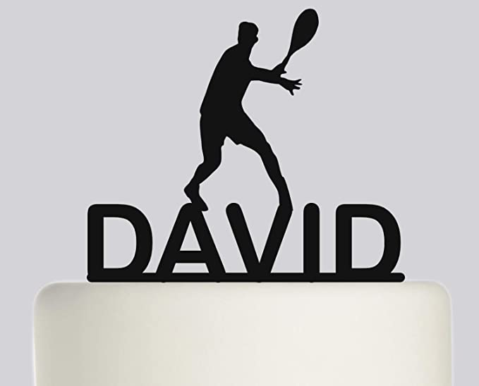 Decoración para tartas de cumpleaños para jugador de tenis ...