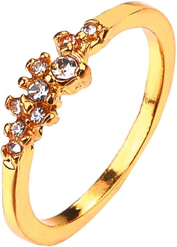 Labiuo Damen Ring Hochzeit Ringe 925 Sterling Silber 9