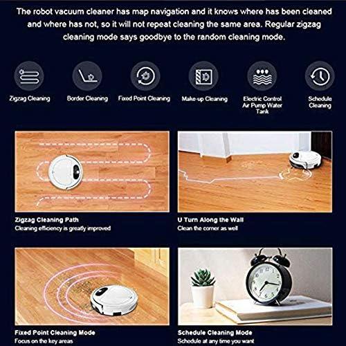 Robot Aspirateur/Contrôle L\'application WiFi Navigation Dynamique Intelligente, Balayage Réservoir 3 en 1 Et Vadrouille avec Eau,Plusieurs Modes Nettoyage, Nettoyage Programmé