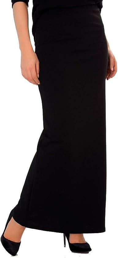 Miss Wear Line Longue Jupe Tube Noire: