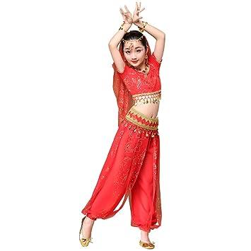 Wgwioo Disfraz de Danza del Vientre para niña, India ...