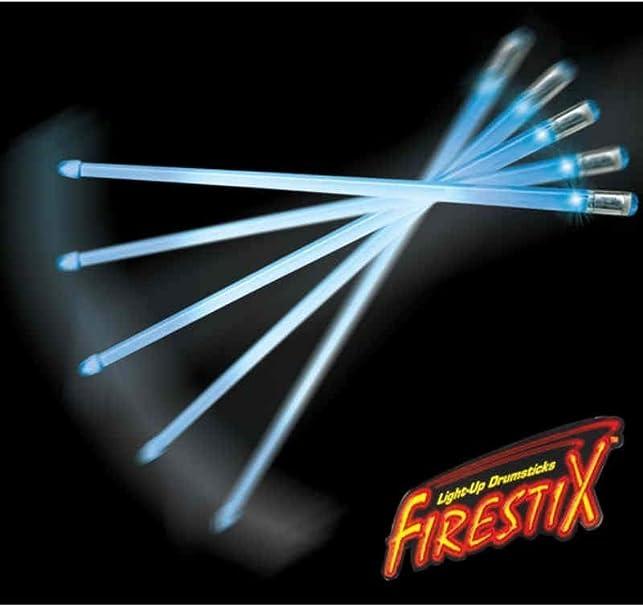 Brilliant Blue Light Firestix Drumsticks FX12BL