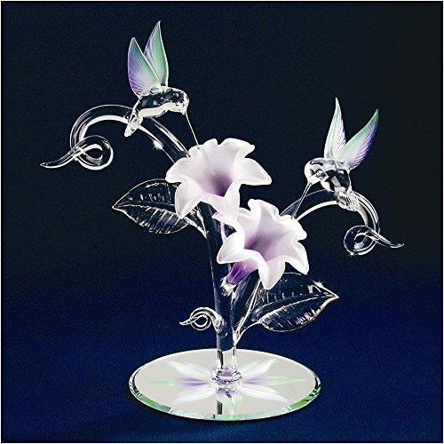 Jewelry Best Seller Hummingbirds & Flowers Glass Figurine